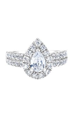 Love Story 14k White Gold 2ctw Pear Diamond Halo Engagement Ring IR200PE39LJ2W product image