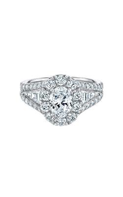 14k White Gold 2 1/2ctw Oval Halo Engagement Ring IR250OV1145LJ2W product image