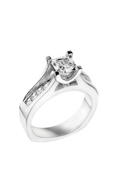 Love Story 14k White Gold Princess Cut Floating Diamond Engagement  L7619 product image