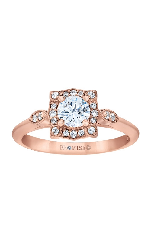 Love Story 14k Rose Gold 1/2ctw Halo Engagement Ring L8561-RGE40 product image
