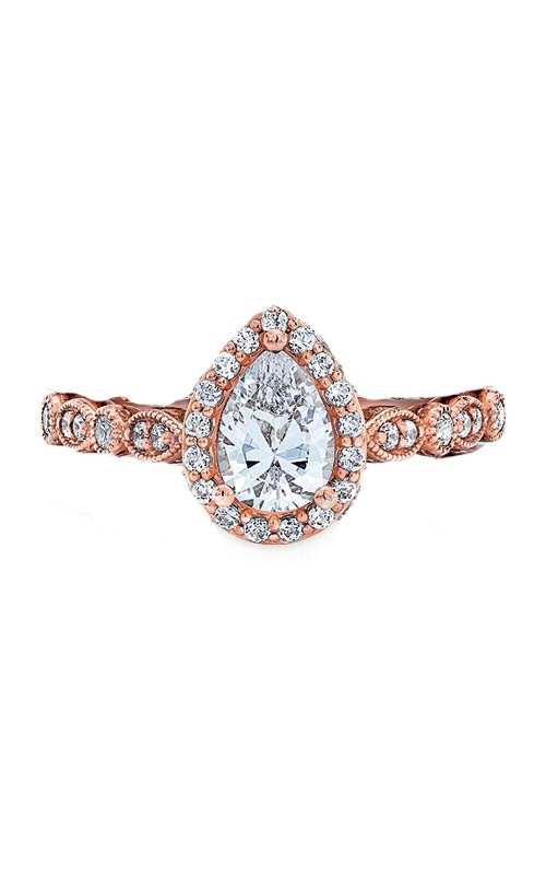 Love Story 14k Rose Gold 1/4ctw Pear Semi Mount L8624-ROSE product image