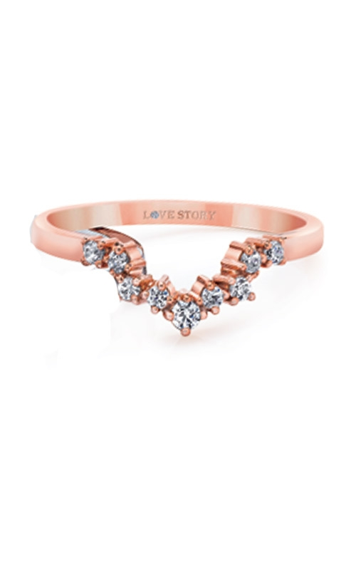 Love Story 14k Rose Gold 1/6ctw Diamond Wedding Band LB8789-ROSE product image