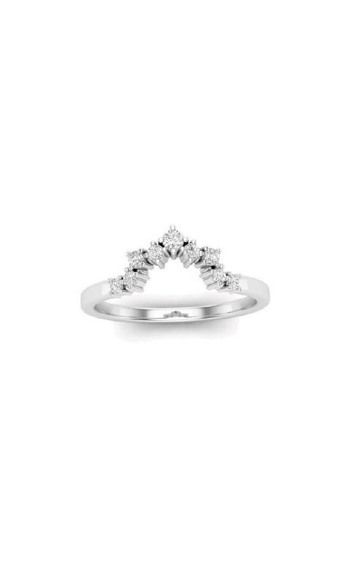 Albert's 14k White Gold 1/6ctw Diamond Wedding Band LB8789-WG product image