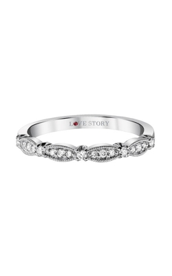 Love Story 14k White Gold 1/6ctw Diamond Band LS0008B-41W-.50 product image