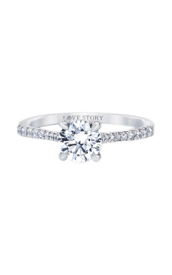 Love Story 14k White Gold 1/4ctw Diamond Semi Engagement Ring LS0108E-41W product image