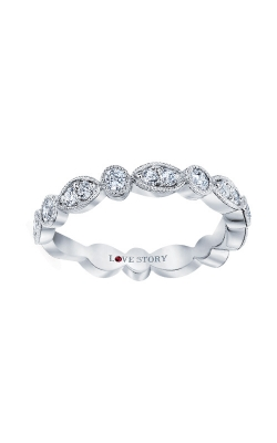 Love Story 14k White Gold 1/2ctw Diamond Wedding Band LS0141B-41W.50 product image