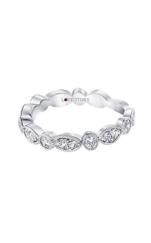 Love Story 14k White Gold 1/2ctw Diamond Wedding Band LS0141B-41W.50 product image