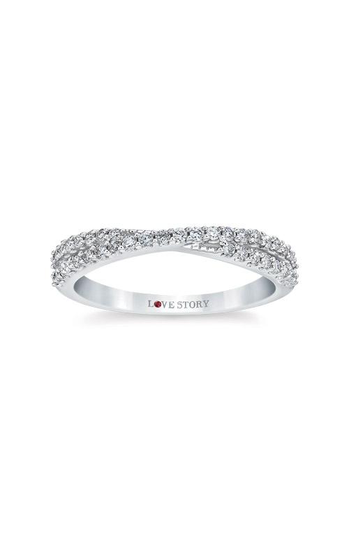 Love Story 14k White Gold 1/3ctw Diamond Wedding Band LS0166-41W product image