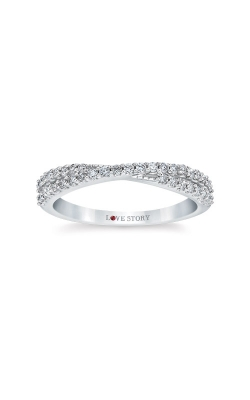 Love Story 14k White Gold 1/3ctw Diamond Wedding Band LS0166-41W product image