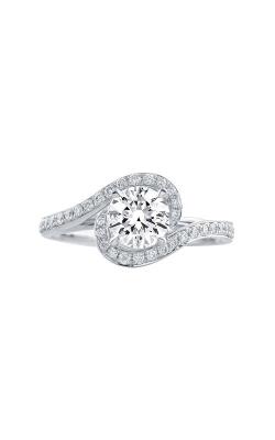 Love Story 14k White Gold 1/4ctw Diamond Semi Engagement Ring LSBE1024M-FWA product image