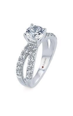 Love Story 14k White Gold 1ctw Diamond Semi Mount LSBEC13P-FWA product image