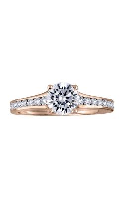 Love Story 14k Rose Gold 1/2 Ctw Diamond Semi Engagement Ring LSBEC33N-FPA product image