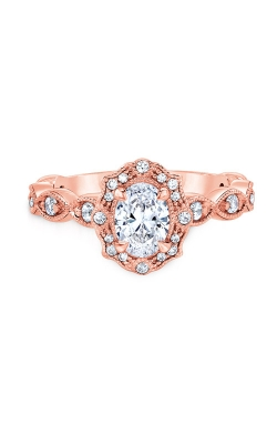 Albert's 14k Rose Gold 1ctw Oval Diamond Engagement Ring LSO0100ECQ-42P product image