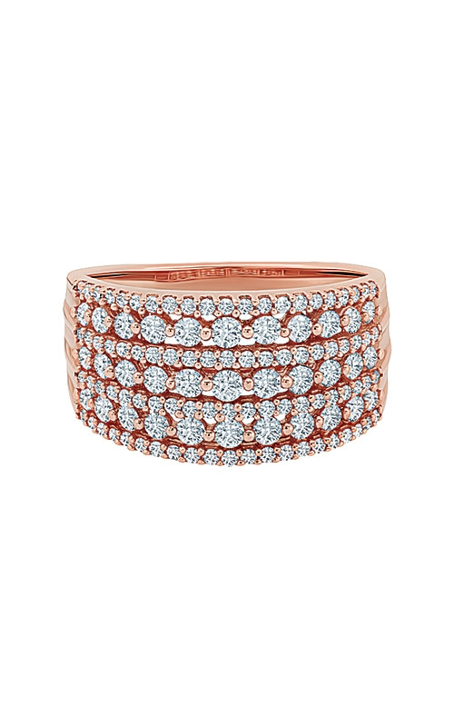 Love Story 10k Rose Gold 1ctw Diamond Wedding Band RA-3834A78POS product image