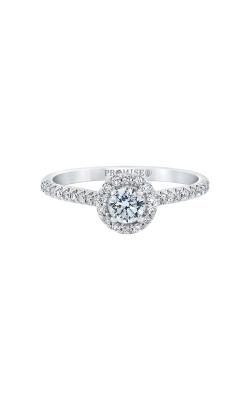 Love Story 14k White Gold 1/2ctw Round Diamond Engagement Ring RE-12319LPA45W45 product image