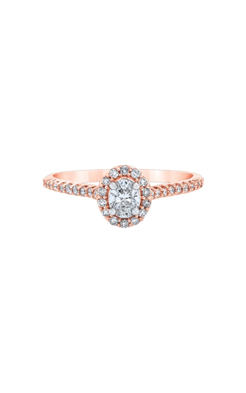 Love Story 14k Rose Gold 1/2ctw Oval Diamond Engagement Ring RE-12428LPA44P4 product image