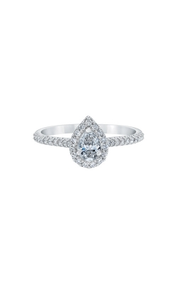 Love Story 14k White Gold 1/2ctw Pear Diamond Engagement Ring RE-12429LPA44W4 product image