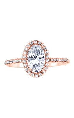 Love Story 14k 1/5ctw Semi Diamond Engagement Ring SIR020OV1077LJP product image