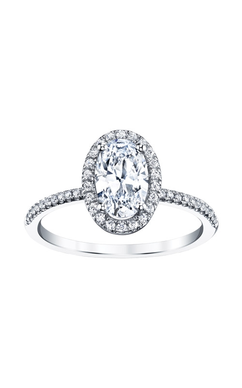 Love Story 14k White Gold 1/5ctw Oval Semi Mount SIR020OV1077LJW product image