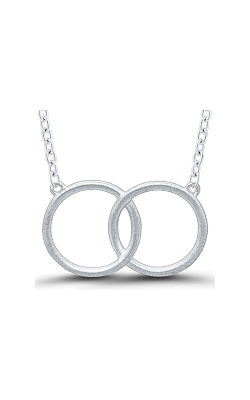 Matchers Sterling Silver Interlocking Circles Necklace 2464990007W product image