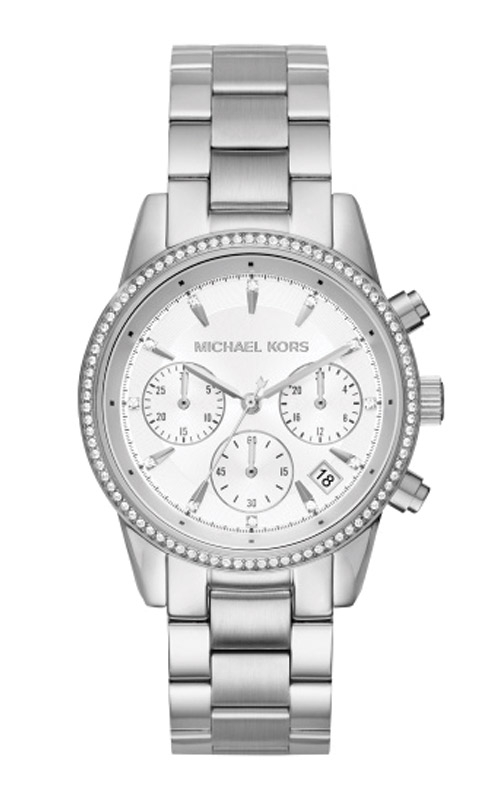 Michael Kors Ladies Ritz Silver Tone Watch MK6428 product image