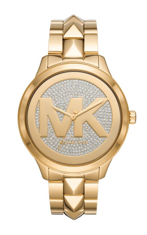 Michael Kors Oversized Runway Mercer Gold-Tone Pave Logo Watch MK6714 product image