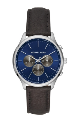 Michael Kors Sutter Leather and Silver Tone Watch MK8721 product image