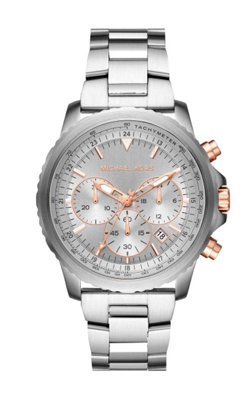 Michael Kors Cortlandt Silver & Rose Gold Tone Chronograph Watch MK8754 product image