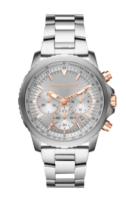Michael Kors Cortlandt Silver & Rose Gold Tone Chronograph Watch MK8754 product image
