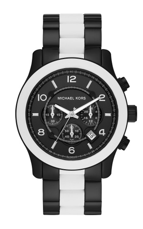 Michael Kors Runway Black & White Chronograph Watch MK8757 product image