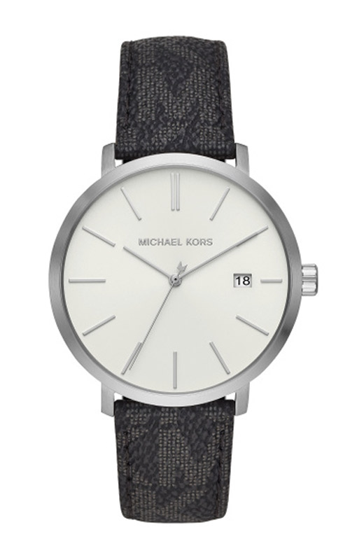 Michael Kors Blake Silver & Black Leather Watch MK8763 product image
