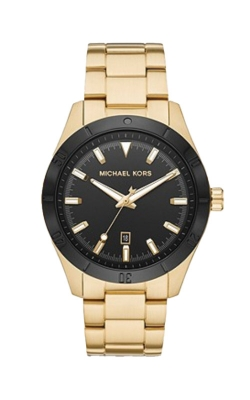 Michael Kors Men's Layton Gold Tone And Black Watch MK8816 product image