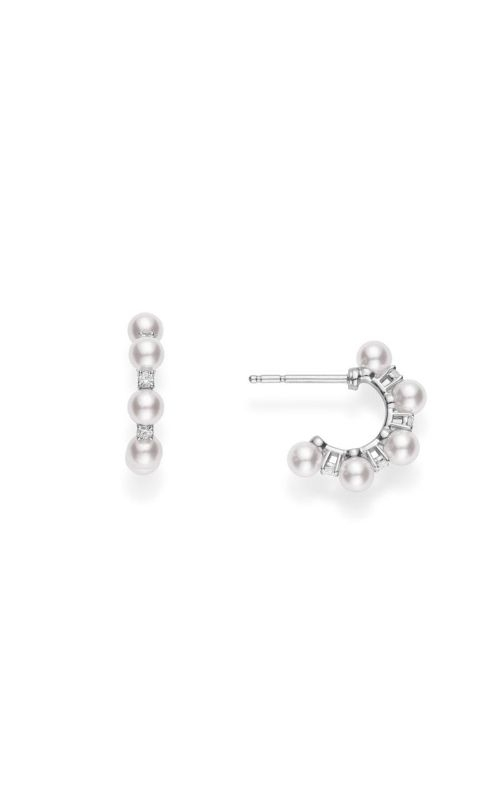 Mikimoto Akoya Pearl & Diamond Bubble Earrings MEQ10079ADXW product image