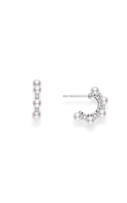 Mikimoto Akoya Pearl & Diamond Bubble Earrings MEQ10079ADXW product image