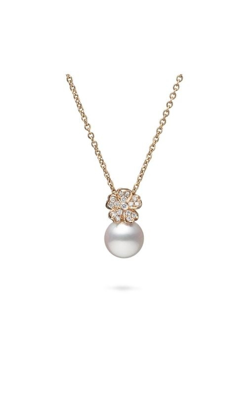 Mikimoto Akoya Cultured Pearl Cherry Blossom Pendant with Diamonds MPA10379ADXZ product image