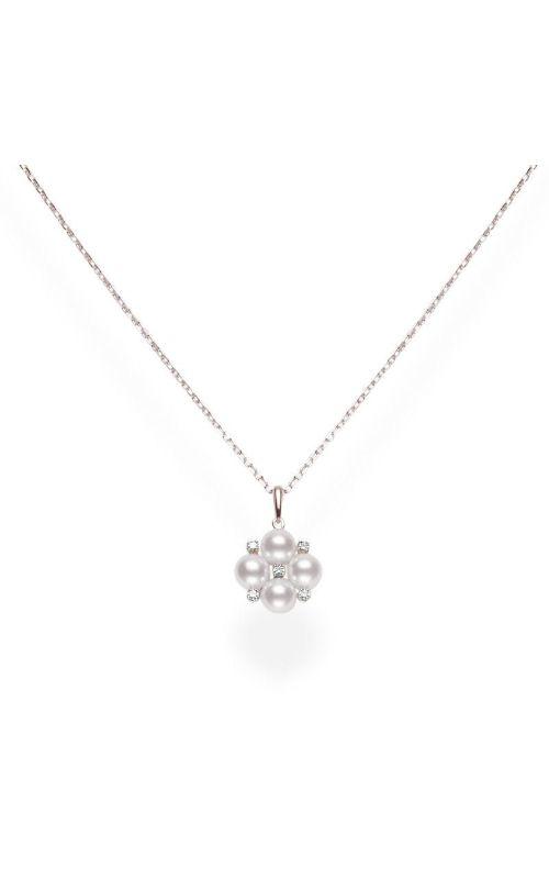 Mikimoto Akoya Cultured Pearl Pendant with Diamonds in Rose Gold MPQ10086ADXZ product image