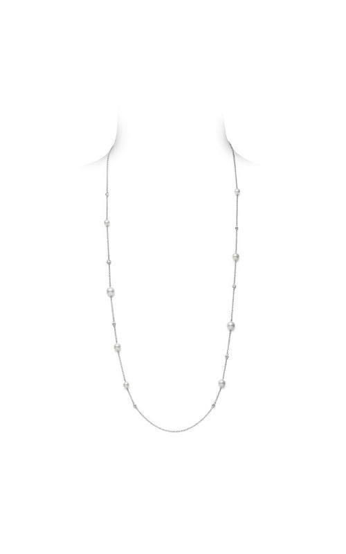 Mikimoto Akoya Cultured Pearl and Diamond Station Necklace MPQ10105ADXW product image