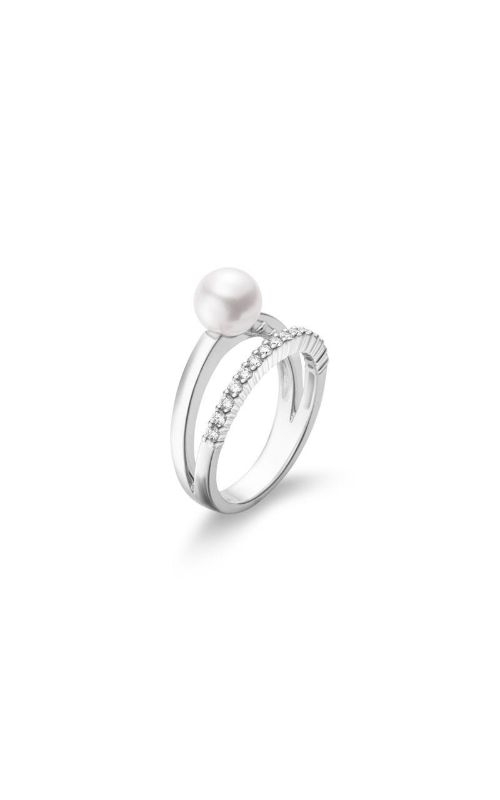 Mikimoto Akoya Cultured Pearl and Diamond Ring– 18K White Gold MRA10233ADXW product image