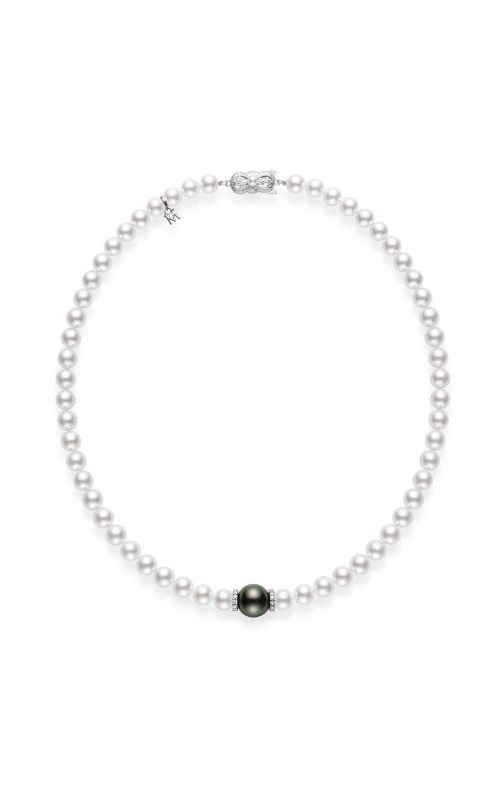 Mikimoto Fusion Akoya and Black South Sea Cultured Pearl Strand with Diamond Rondelles MZP10118ZDXW product image