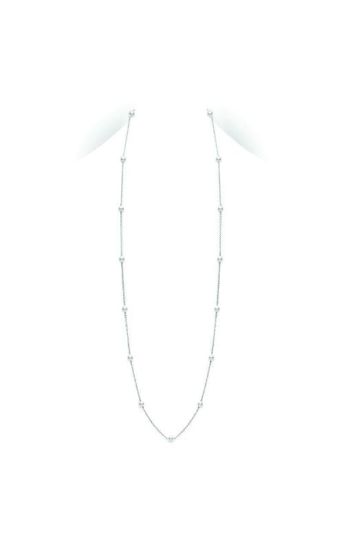 Mikimoto 32 Akoya Cultured Pearl Station Necklace in White Gold PCL2W product image