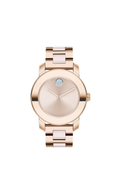 Movado BOLD 36mm Pale Rose Gold Ceramic 3600639 product image