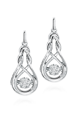Rhythm of Love Sterling Silver Diamond Earrings ROL1020 product image