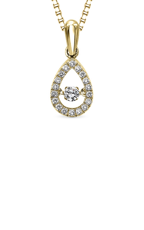 Rhythm of Love Yellow Gold 1/5ctw Diamond Pendant ROL1023Y product image