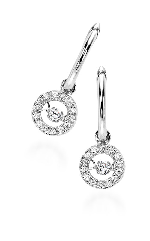 Rhythm of Love 10k White Gold 1/5ctw Round Diamond Earrings ROL1026 product image