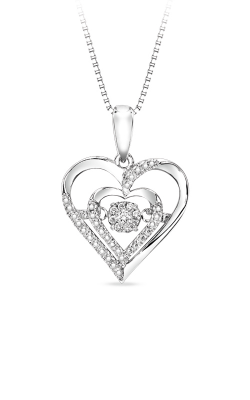 Rhythm of Love Sterling Silver Diamond Heart Pendant ROL1029 product image