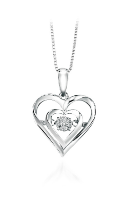 Rhythm Of Love Sterling Silver Diamond Heart Pendant ROL1045 product image