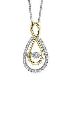 Rhythm of Love Sterling Silver and Yellow Gold 1/10ctw Pendant ROL1082 product image