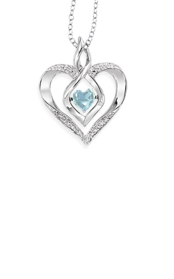 Rhythm Of Love Sterling Silver Aquamarine Heart Pendant ROL1165A product image