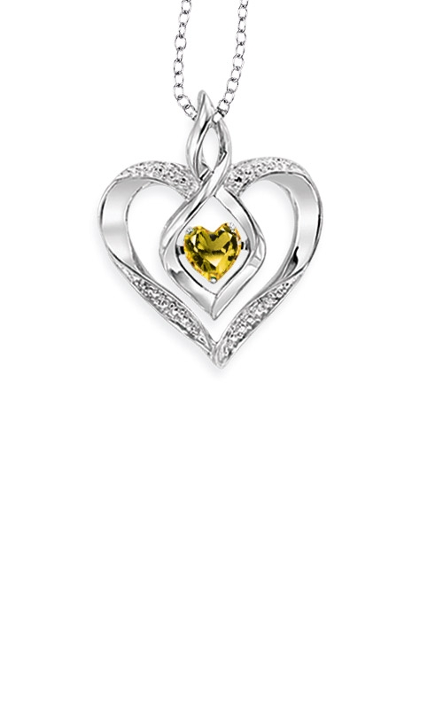 Rhythm of Love Sterling Silver Citrine Heart Pendant ROL1165A product image