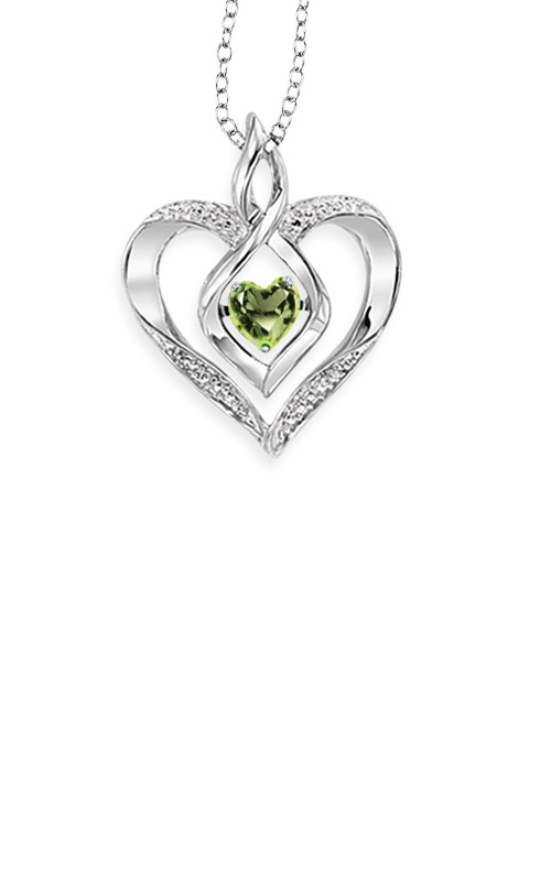 Rhythm of Love Sterling Silver Peridot Heart Pendant ROL1165D product image